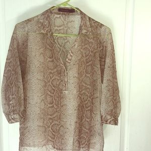 The Limited Sheer Brown Snake Print Size S